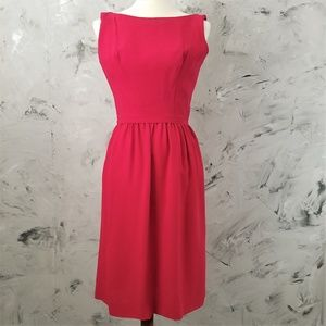 49f8de4bc8b VINTAGE Mid Century Red Fit   Flare Cocktail Dress
